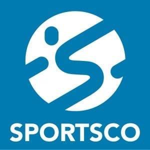 SPORTSCO Logo White on Blue
