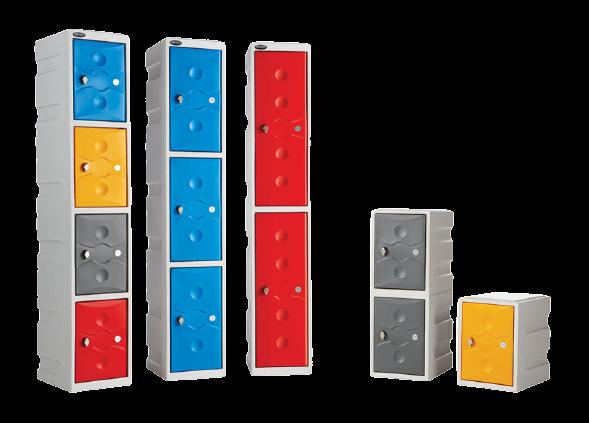 various lockers